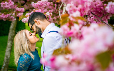 Woodland-themed Spring Engagement Shoot