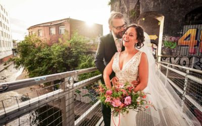 Old Library, Custard Factory, Birmingham Wedding Photographs: Liz & Sam