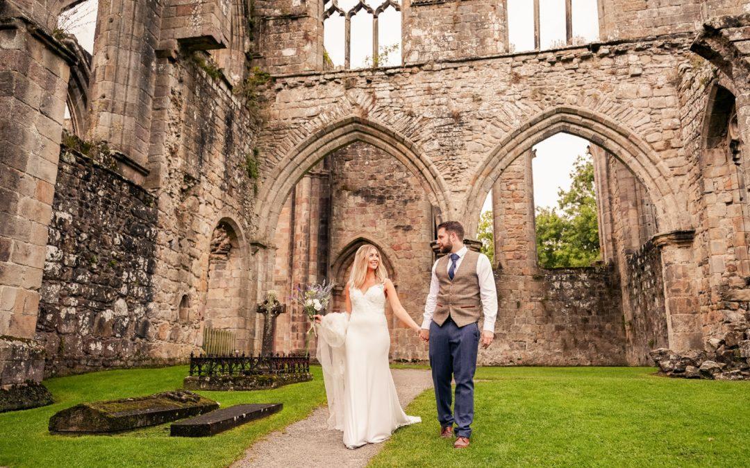 The Tithe Barn at Bolton Abbey Wedding Photos: Jess & Mark